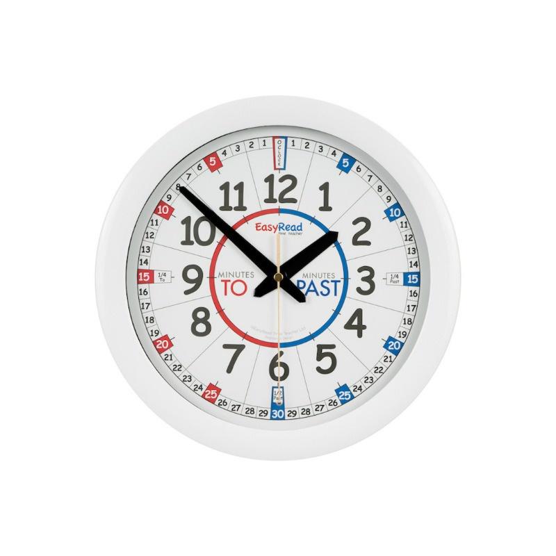 Easyread Time Teacher Clock Blue Red Sister Sensory